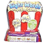 The Scholastic Sight Words Popcorn Game helps beginning readers identify 86 sight words using 96 popcorn-shaped playing pieces. Some of the pieces have words on them while others have popcorn kernels on them. Players each take turns reaching into the...
