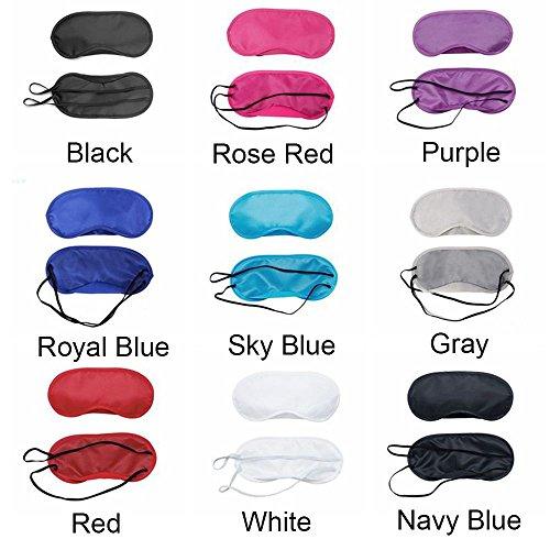 genenic Schlafmaske, 9Pack Augenmaske Shade Augenmaske Soft Eye Schatten Cover für Reisen Schlaf Oder Party Supplies (schwarz, rot, rose rot, lila, Royal Blau, Himmel Blau, Grau, Weiß)