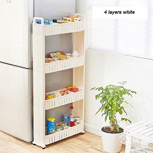 BBYE Espace De Rangement Cadre / Réfrigérateur Étagères De Finition / Compartiment De Cuisine Coutures / Gap Storage Vehicles ( taille : 4 Layers )