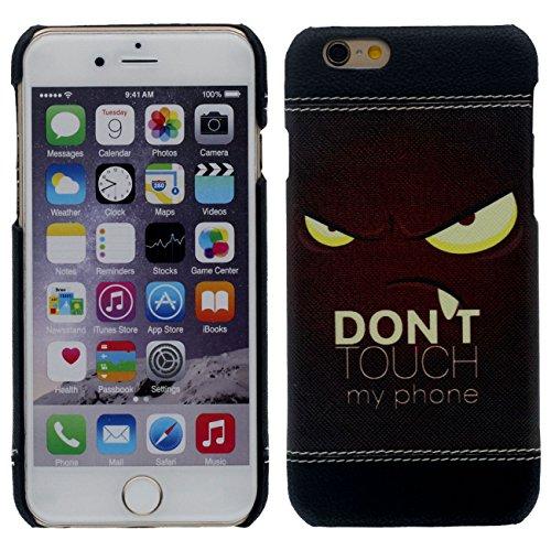 iPhone 7 Hülle Case Dünn und Leicht, Schwer Kunststoff 3D Korn Malerei Muster Stil ( Totenkopf ) Hübsch Schutzhülle Handyhülle Apple iPhone 7 4.7 inch schwarz