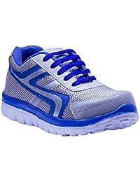Savie Shoes Men's Sliver & Blue Casual Sport Shoes
