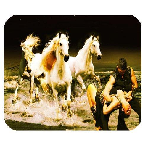Dancing mit Pferde Persönlichkeit Designs Gaming Maus Pad, Oberfläche der Polyester verhindern Verformung [natur Gummi, Präzision Stoff] £ ¨ 25x 20,1cm £ ©