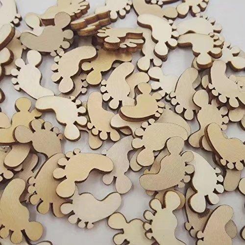 Ricisung Holz-Verschönerungen, Basteleien, hängende Ornamente, Feet-50pcs