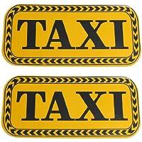 sourcingmap Reflexiva Etiqueta para Coche Carrocería Motivo Taxi Negro Amarillo