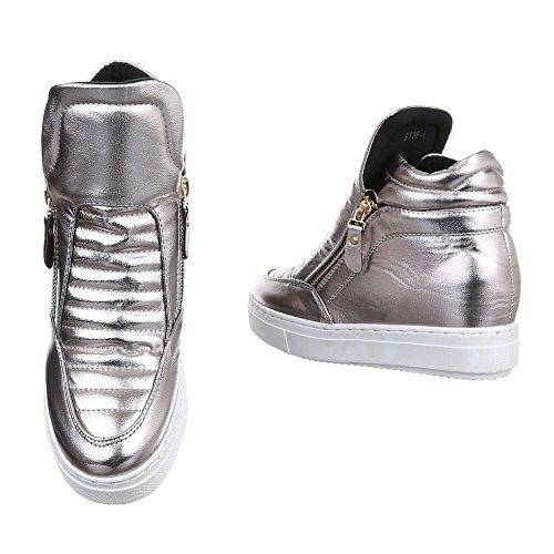 Ital-Design - Pantofole a Stivaletto Donna Grau XY-232-