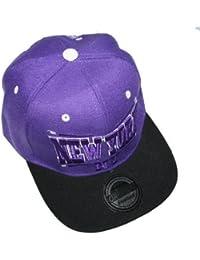 Hip Hop NEW YORK Purple Black SNAPBACK CAP von OUTLET KING CITY ERA TRUCKER Mütze basecap flexfit yankees lila schwarz