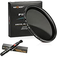 77mm Filtro ND, K&F Concept a densità variabile per ND Filter ND2 to ND400+ Penna di pulizia per Canon 6D 5D Mark II 5D Mark III for Nikon D610 D700 D800 DSLR Camera
