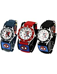 Spiderman Waterproof, Shockproof Watch for Kids, Boys,Girls, Children, Fast Wrap Strap,Great for Birthday or Gift, Available in Red,Blue,Black Colour by B.K.Phoenix (Red)