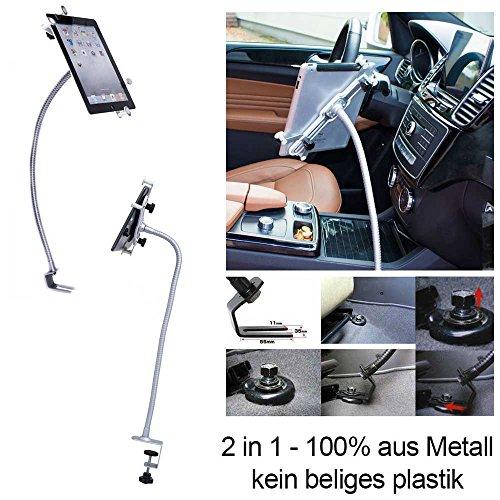 UrbanNerd Metall Auto & Tisch Schwanenhals Halterung für Apple-iPad-2-3-4-Mini-Air-Air-2 iPad, Samsung Galaxy Tab & alle Tablet von 8