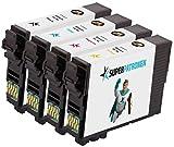 4 XL Druckerpatronen ersetzen Original Epson 16XL, T1636, Multipack,MADE IN GERMANY passend für Epson Workforce WF 2010W, WF 2510, WF 2520NF, WF 2530, WF 2630, WF 2650, WF 2660, WF 2750, WF 2760