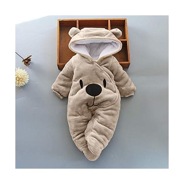 Ropa bebé Invierno Mameluco 3-12 Meses,Mameluco Abrigo de Niño Niña Otoño/Invierno Animal pequeño Estilo Lindo bebé… 2