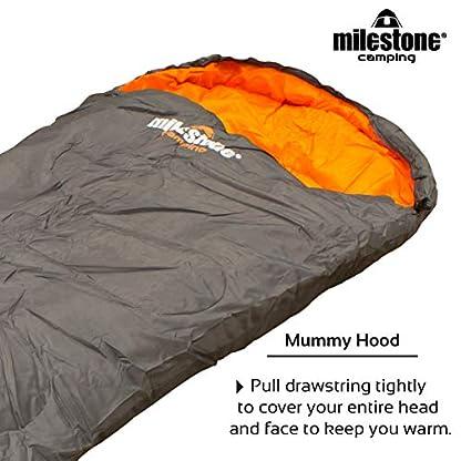 Milestone Camping Mummy Sleeping Bag 2