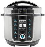 Pressure King Pro PKP6L 20-in-1 Digital Pressure Cooker, 6 Litre, 1000 W, Chrome,electric