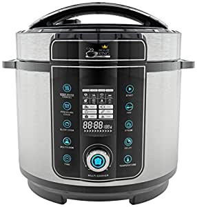 Pressure King Pro 6 Litre 20-in-1 Digital Electric Pressure Cooker, 1000 W, Chrome
