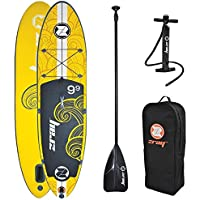 "Zray x1 All Around Hinchable Stand Up Paddle Board, 9 '9 "", Amarillo"