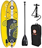 Zray 37331 - Tavola Stand Up Paddle Gonfiabile X1 All Around Multiboard, colore Giallo, 297x76x15 cm