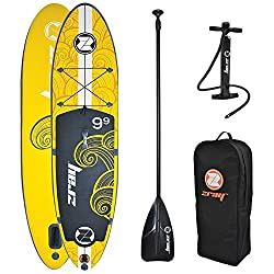 "Zray X1 All Around Inflatable Stand Up Paddle Board, 9'9"", Yellow"