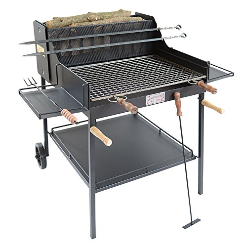 Cruccolini arezzo barbecue a legna e carbone, nero, 123x83x110 cm