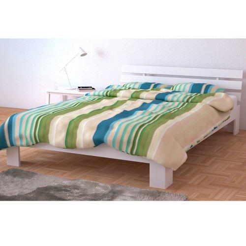 sale holzbett doppelbett holz 140x200 160x200 180x200 cm massivholz bett bettgestell inkl. Black Bedroom Furniture Sets. Home Design Ideas