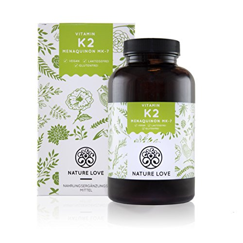 Vitamin K2 MK7 - 365 Kapseln im 12 Monatsvorrat. Absolute Spitzenqualität mit >99% All-Trans MK7! 200 µg natürliches Menaquinon (MK-7). Hochdosiert, vegan und hergestellt in Deutschland …