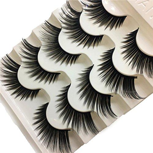 Fanxing 1 Box 3D Falsche Wimpern Fluffy Strip Natürliche Multi Layer Dicke Cross Eye Wimpern falsche Wimpern Fake False Eyelashes
