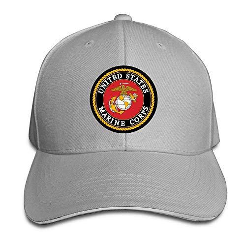 SOTTK Herren Damen Baseball Caps,Hüte, Mützen, Marine Corps Logo Youth Baseball Cap Retro Sun Visor Snapback Cap -