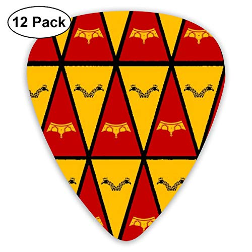 gs Bunting Pennants Classic Celluloid Picks, 12-Pack, For Electric Guitar, Acoustic Guitar, Mandolin, And Bass ()