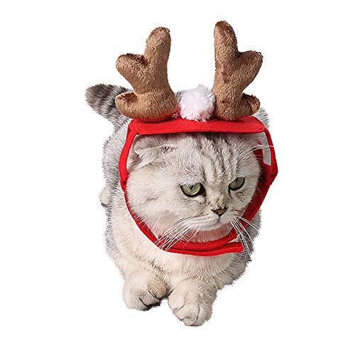 Livecitys Haustier Hund Katze Mütze Niedlich Hirsch Geweih Stirnband Weihnachten Party Urlaub Kopfbedeckung Hut Geschenk Familie Foto Rep