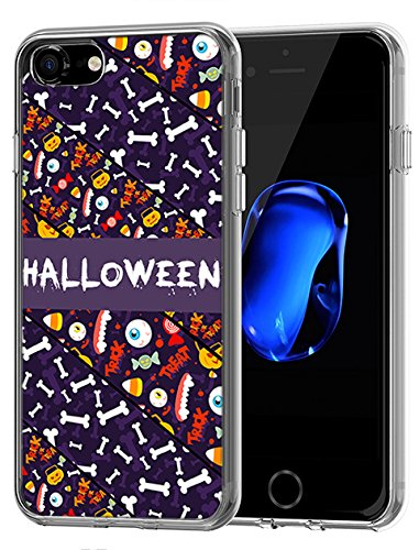 Lovely stoßfest Fall für Apple iPhone 7 (2016)/iPhone 8 (2017) Happy Halloween Serie, Design-1