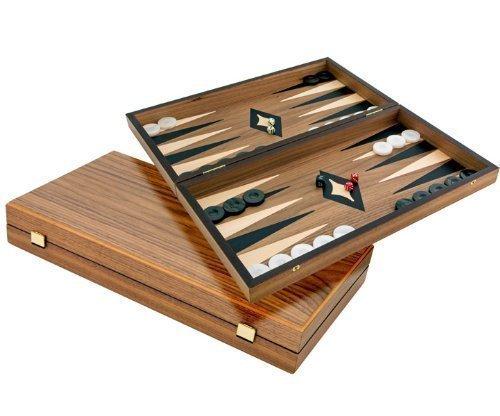 Luxus Walnuss und Ahorn Backgammon Set