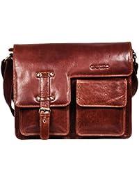Genuine Leather Men's Messenger Bag – Men's Portfolio Bag – Men's Leather Shoulder Bag-Leather Office Bag-Leather... - B07CN3S6LJ