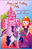 10 Personalised Princess Unicorn Party Invitations N25