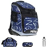 4er SET: NITRO Bandit Schulrucksack + Sporttasche Duffle Bag + Mäppchen Pencil Case + CO2 Flasche / SMEAR MIDNIGHT