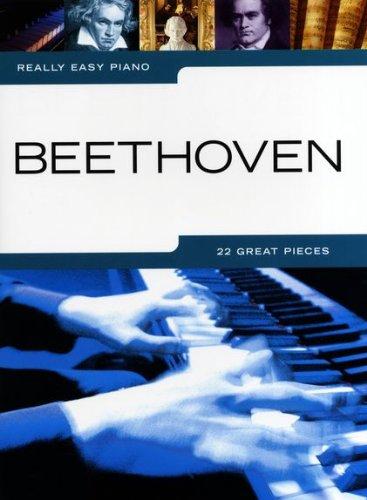 EETHOVEN mit Bleistift -- 22 beliebte Melodien des Komponisten für Klavier sehr leicht gesetzt u.a. mit FÜR ELISE und MONDSCHEINSONATE - ideal für Anfänger und Wiedereinsteiger (Noten/sheet music) ()
