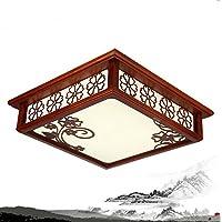 GQLB Il soggiorno lampada LED soffitto in legno lampada 3 luci di studio (450*450*120mm), la luce di