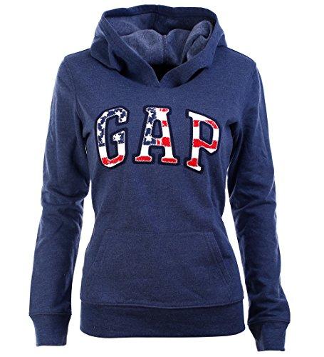 gap-usa-damen-hoodie-kapuzenpullover-pullover-navy-meliert-grosse-xs