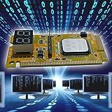 fdghhgjgtkuyiuy Heißer Kunststoff/Metall 5 x 3 x 1 cm Hohe Stabilität 3 in 1 Mini PCI-E LPC PC Analyzer Tester Post-Karten-Test für Notebook-Laptop Hexadezimal-Zeichenanzeige