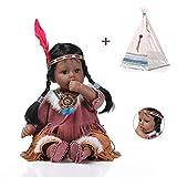 MMYJ Baby Born Puppe 50CM 20 Zoll Simulation Reborn Babys Neugeborene Spielzeug Indianer Kultur Bildung Spielzeugpuppe Geschenk Spielkamerad