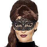Venezianische Augenmaske Spitzenmaske schwarz Maske Karneval Venedig Venedigmaske für Maskenball
