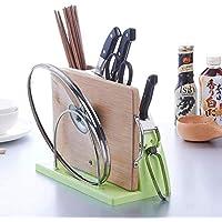 Soporte para cuchillos de cocina, estante de almacenamiento para cuchillos de cocina, estante de herramientas multifunción verde ZHANGKANG