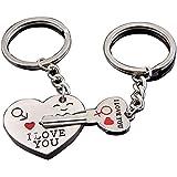 """Schlüsselanhänger,Keychain,Schlüsselring,LDream® Schlüssel zum Herzen """" I Love You """"Schlüsselanhänger Schlüsselring für Paare /Geliebte im Set Auto Schlüssel Anhänger"""