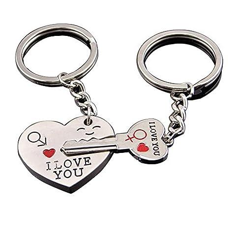 Schlüsselanhänger,Keychain,Schlüsselring,LDream® Schlüssel zum Herzen