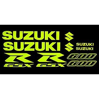 Suzuki GSXR 600?fluoreszierend gelb Aufkleber Grafiken X 10?St?ck
