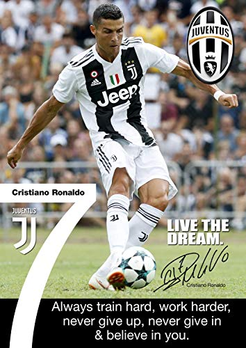 Tainsi Ronaldo Juventus Poster Motivational Signed Copy A3 Poster Wall Art Print A3 420mm X 297mm