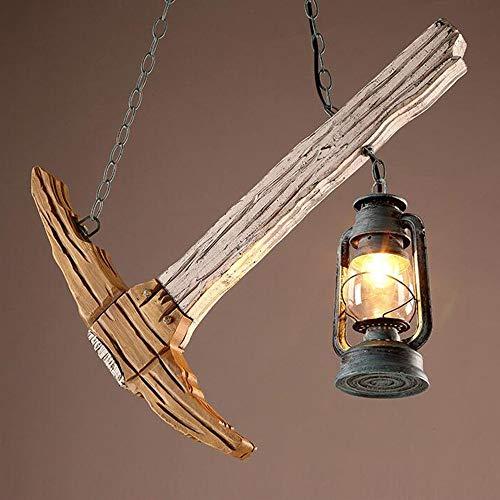 GWFVA Interieur Kronleuchter-Iron Arts Holz kreative Hammer Kronleuchter Restaurant Bar Cafe Kronleuchter-Beleuchtung dekorative Lichter (Farbe: 2)