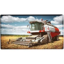 Alfombra Pasillera Retro Tractor Fábrica Máquina segadora impreso 99x55 cm