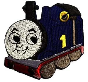 Thomas le Petit Train Bébé Enfants Patch Écusson brodé Ecussons Imprimés Ecussons Thermocollants Broderie Sur Vetement Ecusson Biker '' 8,7 x 7 cm