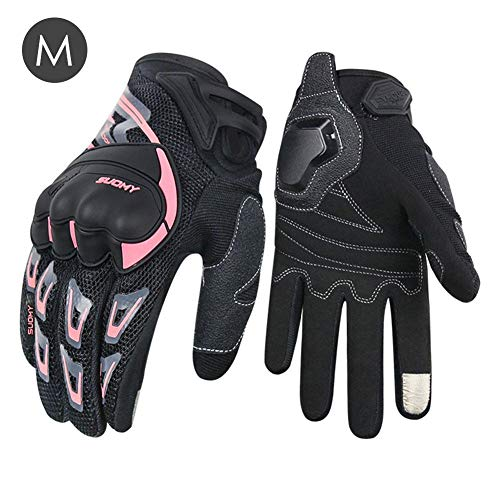 Enjoyyouselves Guanti Moto da Equitazione Full Finger Estate Unisex Mesh Traspirante Sicuro Touch Screen Adatto per Uomo/Do