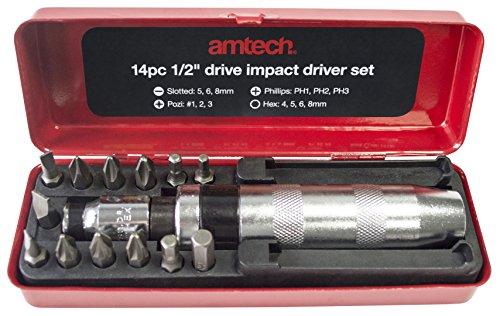 AM-Tech L2130 1,27 cm juego de llaves (14 piezas)