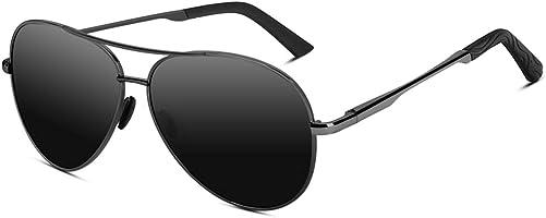 VVA Sonnenbrille Herren Pilotenbrille Polarisiert Pilotenbrille Polarisierte Sonnenbrille Herren Pilot Unisex UV400...
